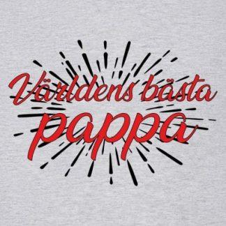 Världens bästa pappa explosion t-shirt (Grå,Dam,M)