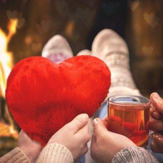 Värmekudde - Värmande hjärta, Röd
