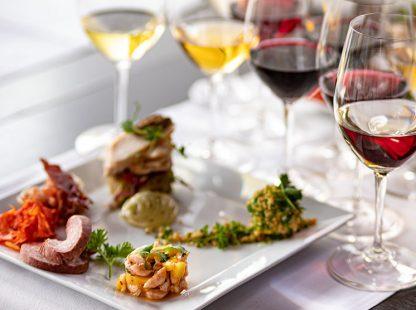 Vin & mat i kombination för två