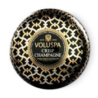 Voluspa doftljus - Crisp Champagne, (50h) Doftljus i metallburk